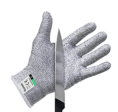 Twinzee Cut Resistant Kitchen Gloves - High Performance Level 5 Protection, Food Grade, EN 388 Certified, 1 pair