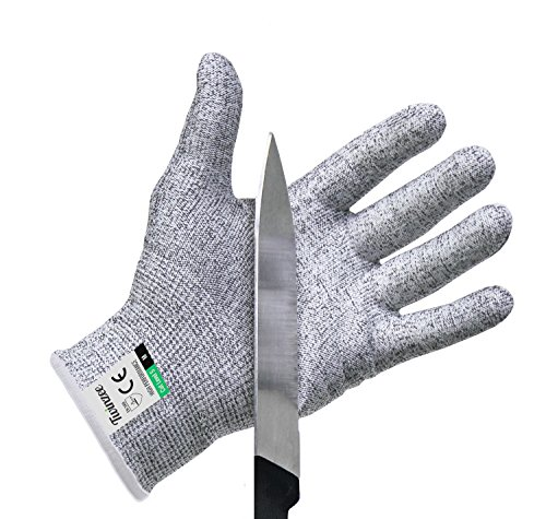 Twinzee® Schnittschutz-Handschuhe (1 Paar) – Extra Starker Level 5 Schutz, EN-388 Zertifiziert, Lebensmittelecht – Hochwertig und Leicht, für alle Zwecke - Perfekte (Rosa Nylon Handschuhe Lange)