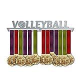 VICTORY HANGERS Porta Medaglie VOLLEYBALL Medal Hanger * Medal Display V1| Medagliere Da Muro | Elegante Espositore Per Medaglie * 100% Acciaio Inossidabile | Medagliere Da Parete | Per I Campioni !