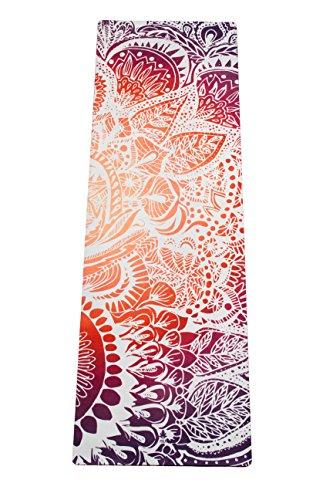 "'mala Hybrid Premium–Esterilla de yoga ""Sunrise de mandala de caucho natural con superficie de microfibra para Bikram Yoga, Hot de yoga, vinyasa, Crossfit, fitness ejercicio y otros, extra largo"