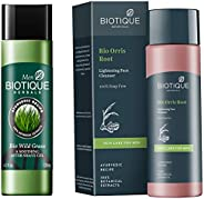 Biotique Bio Wild Grass A Soothing After Shave Gel For Men, 120Ml & Bio Orris Face Cleanser For Men, 120ml Combo