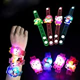 Parteet Cartoon Characters Led Light Bracelets - Pack Of 12 Pieces For Birthday Party Return Gifts For Kids (Assorted)
