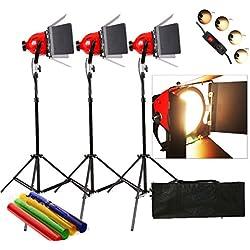 Dimmer incorporado en Pro Photo Video Studio continua luz de la cabeza roja 800w vídeo 5mcord 3set Iluminación
