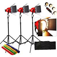 Dimmer costruita nel Pro Photo Video Studio continua capo Red Light Video 800w illuminazione 3set 5mcord