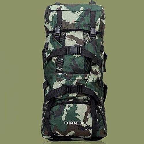 Outdoor Wandern Rucksack Camouflage Tactical Rucksack Große Kapazität 56-75L Extremsportarten Bergsteigen Abenteuer Multi-Funktions-Camping-Rucksack,A-OneSize