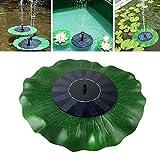 Leegoal Solar Springbrunnen Pumpe 1.4W solarbetrieben Wasser Brunnen Pumpe, Outdoor Lotus Blattform Schwimmende Brunnen Pumpe Panel für Teich, Pool, Garten, Terrasse, Aquarium, Aquarium
