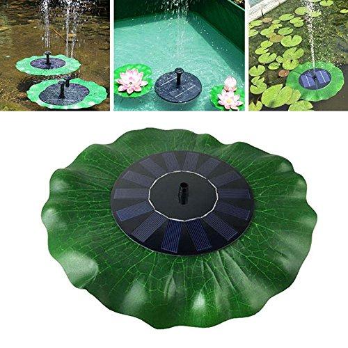 Leegoal Solar Springbrunnen Pumpe 1.4 W Solarbetrieben Wasser Brunnen  Pumpe, Outdoor Lotus Blattform Schwimmende Brunnen Pumpe Panel Für Teich,  Pool, ...