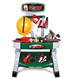 deAO WKS-G Workbench Kit Play Set with Variety of Tool Accessories Included - Gift for Kids
