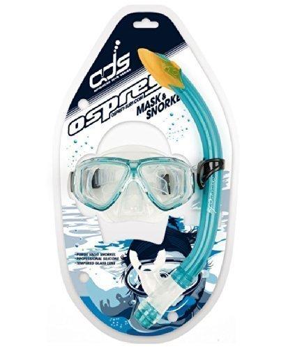 Osprey Avanzato Immersione Serie Junior Silcone Maschera & Set Snorkel - Turchese - Junior Snorkel Set