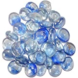 Maalavya 80 Pieces Crystalline And Translucent Shaded Glass Stone For Decorative Aquarium Fish Tank And Substrate Glass Stone Or Pebbles.(translucent Glass Blue Shades) - B075SYBTYT