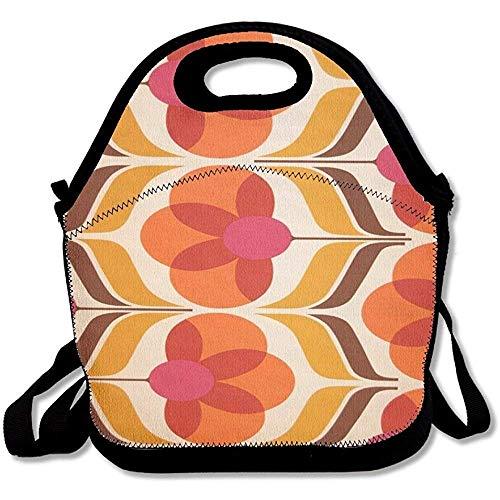 Große und dicke Neopren-Lunch-Taschen, isolierte Lunch-Tasche, Kühltasche, warm, mit Schultergurt, Orange