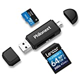 Philonext Memory Card Reader, SD/Micro SD Card Reader and