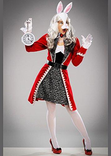 Magic Box Int. Womens Red Wonderland White Rabbit Kostüm Large (UK - Wonderland Rabbit Kostüm