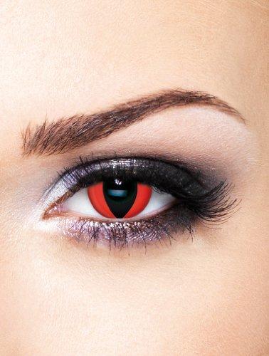 Edit farbige rote Katzenaugen Kontaktlinsen Rot ohne Stärke für Halloween und Karneval