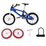 51f0tNgTkWL. SS150 2 Pcs Modello Bici Da Scorta Montagna BMX Dito Pneumatici Giochi Bambini Lega Plastica ABS Regale Natale - Blu
