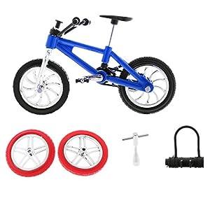51f0tNgTkWL. SS300 2 Pcs Modello Bici Da Scorta Montagna BMX Dito Pneumatici Giochi Bambini Lega Plastica ABS Regale Natale - Blu