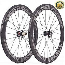VCYCLE Nopea 700C Carretera Bicicleta Carbono Juego de Ruedas 60mm Remachador Ancho del Freno de Disco 23mm solo Usado para el Cubo del Eje UD Mate