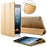 SAVFY Apple iPad Air 2 Hülle Gold Case iPad Schutzhülle Auto Sleep/Wake up Funktion mit Magnet Smart Cover gold