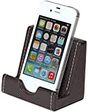Osco Faux Leather Phone Holder - Brown