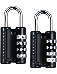 Cadenas a 4 Chiffres, TopElek 2PCS Cadenas a Code, Serrures pour Bagages Valise, Classeurs, la Boîte à Outils