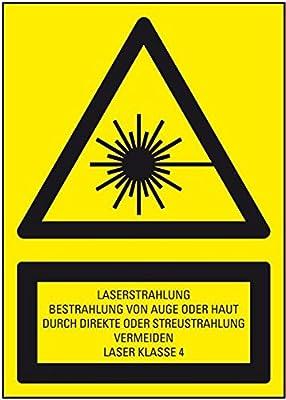 LEMAX® Warn-Kombischild Laserstrahlung... Laser Klasse 4, DIN, Folie, 150x200mm