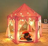 Tienda de campaña princesa para niños en Interior y Exterior,VicPow Casas y tiendas de campaña Jardín - se proporcionaron las luces pequeño LED-Bolas y manta no incluidas