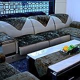 TY&WJ Plüsch Anti-rutsch Sofabezug Wohnzimmer Sofabezug Outdoor Couch-abdeckungen Möbel Protector Für ledersofa Haustier Hund & Kinder-braun 80x240cm(31x94inch)