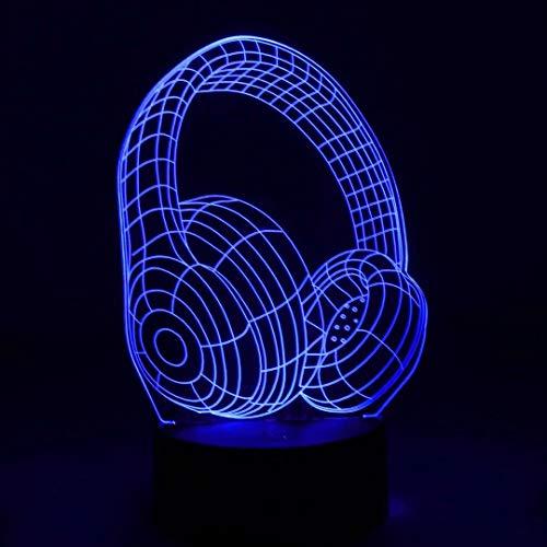 NUÜR 3D-Nachtlicht mit optischer Täuschung - 7 LED-Farbwechsellampe mit Fernbedienung - GROUP Shape Design Option für Einhorn-Batterie und USB-Kabel