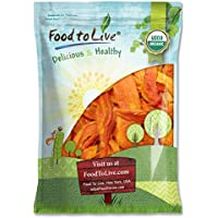 Food to Live Papaya seca Bio certificada sin azúcar (Eco, Ecológico, sin OMG, Kosher) 7.2 Kg