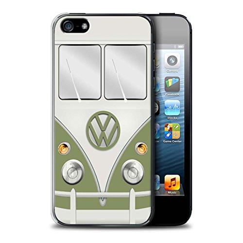 Stuff4 Hülle / Case für Apple iPhone 5/5S / Fjord Blau Muster / Retro T1 Wohnmobil Bus Kollektion Mango Grün
