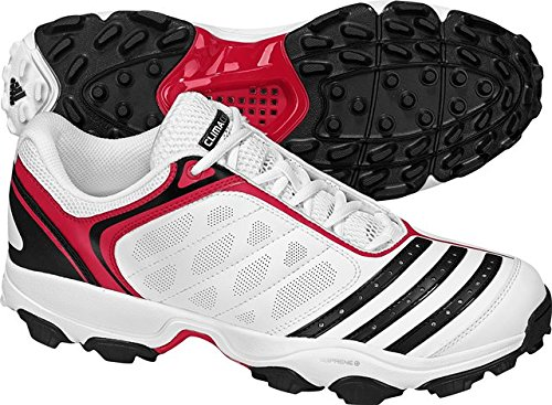 Adidas Twenty2yds AR IV cricket Rubber spike Shoes-White/Black/Red- UK 8/ US 8.5
