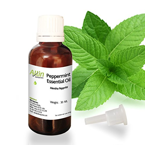 Allin Exporters Peppermint Oil 30 Ml 100% Natural Ideal For Use In Aromatherapy For Skin & Muscles Use In Aroma Diffusers To Eliminate Foul Odors