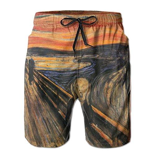 Dc Mens Dress (Edvard Munch The Scream Summer Mens Quick-Drying Swim Trunks Beach Shorts)