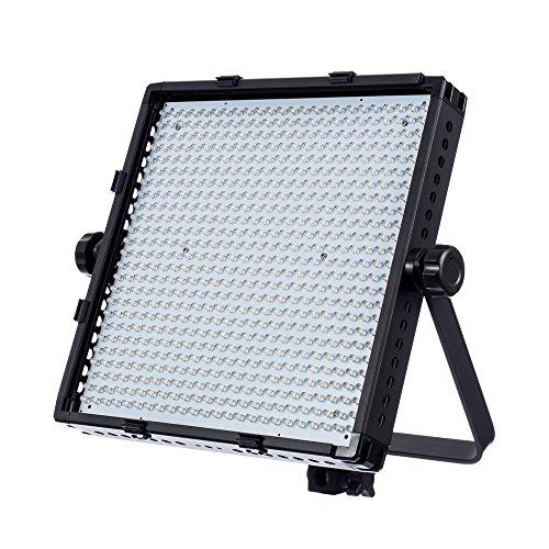 Fovitec – Dimmbar Zweifarbige 600 LED Professionelles Videolicht Mit U-Halterung Für Kontinuierliche Beleuchtung Fotografie, Studio, Interview, Grüne Leinwand, YouTube & Portrait