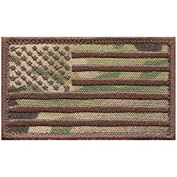 2AFTER1 USA American Flag Multicam OCP 2x3.25 Stars and Stripes Tactical Morale Hook-and-Loop Cap Patch