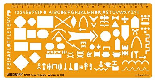 Linot NATO Truppe Armee Taktische Karten Vorlage Zeichnung Zeichnung Schablone (Schablone Militärische)