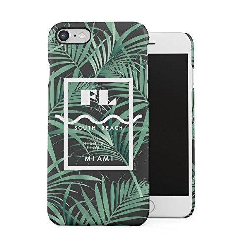 South Beach Florida Miami Paradise Tropisch Palme Dünne Handy Schutzhülle Hardcase Aus Hartplastik Hülle für iPhone 7 / iPhone 8 Handyhülle Case Cover
