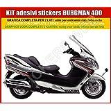Suzuki Burgman - Kit de 400pegatinas, gris (colores personalizables)