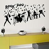 The Wall Sticker For Bedroom Bedroom Kids Room Home Art Decor Decor Rock Music Boy Removable Art Wall Sticker Adesivo De Parede