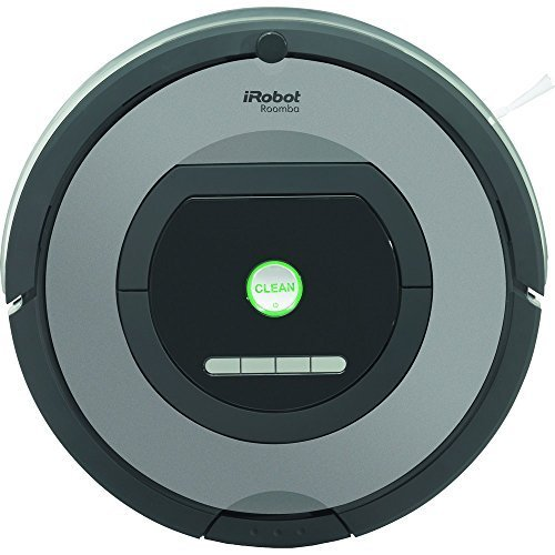 iRobot Roomba 772 Robot Aspirador, Alto Rendimiento de Limpieza, Programable, Atrapa el Pelo de Mascotas, 33 W, 61 Decibeles, Plata