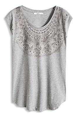 edc by Esprit Women's 056cc1k047-Druck T-Shirt