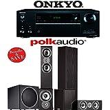 Polk Audio TSi 300 5.1-Ch Home Theater System With Onkyo TX-NR656 7.2-Ch Network AV Receiver