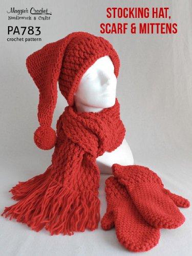 e69c15b5e43 Crochet Pattern Stocking Hat Mitten Scarf PA783-R (English Edition)
