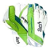 KOOKABURRA 2017750Wicket Keeping Handschuhe–Weiß/Grün–Herren