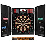 UItrasport Electronic Dartboard with Doors, Classic Darts for 16 players, Darts Game