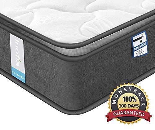 Inofia Federkernmatratze 100x200 Matratze 7-Zonen Taschenfederkernmatratze H3,Oeko-TEX 100,3D Memory Foam,Höhe 22 cm,100 Nächte Probeschlafen,10 Jahre Garantie(Airy Breathable, 100 x 200 cm)