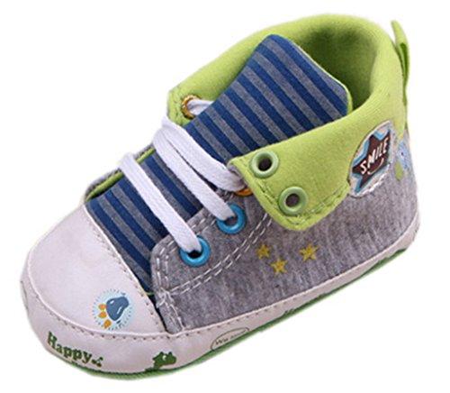 Bigood Chaussures Premier Pas Bébé Unisexe Toile Sport Rayure Etoile