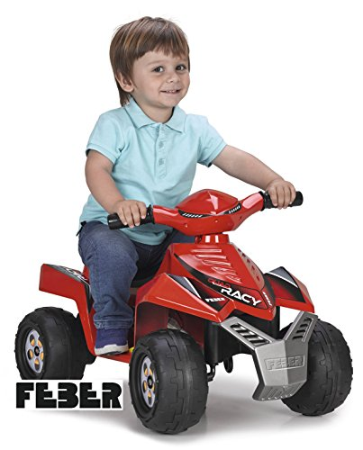 FEBER Quad Racy, 6 V, Color Rojo, (Famosa 800011252)