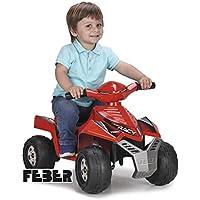 FEBER Quad Racy, 6 V, Color Rojo, (Famosa 800011252)