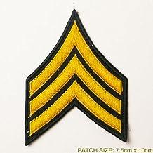 Nos sargento mayor del ejército amarillo y negro bordado insignia parche hierro o coser en 7,5cm x 10cm